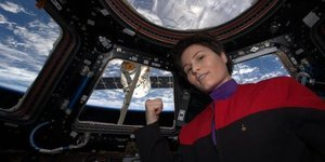 Samantha Cristoforetti, ISS Astronaut, Wears 'Star Trek' Uniform In Space