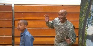 Soldier Dad Surprises Son On Picture Day With Epic Photobomb