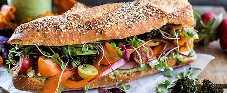 Rainbow Brite Would Approve of This Colorful Veggie Sandwich