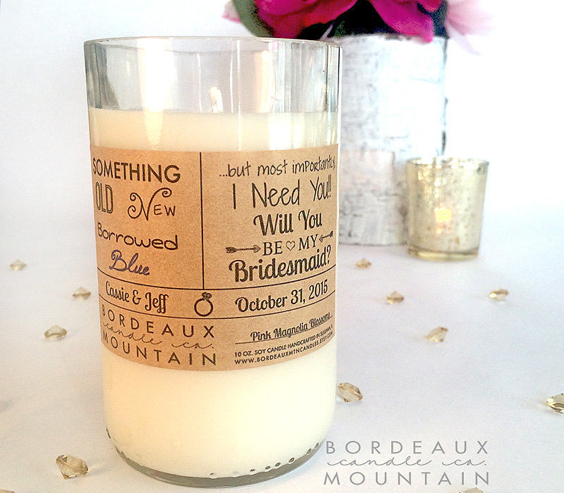 Bridesmaid Ask Candle