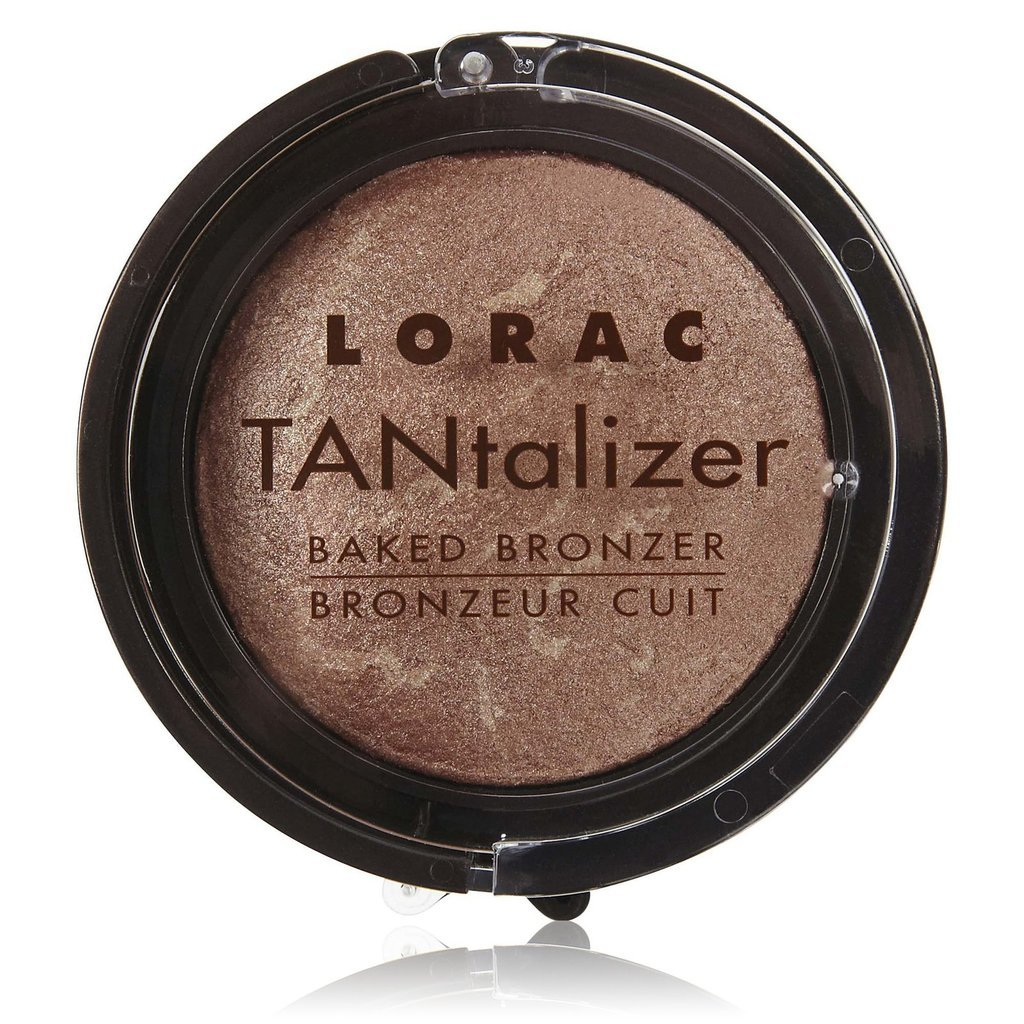 Suitable for face and body, Lorac Tantalizer Baked Bronzer ($8) can be your go-t