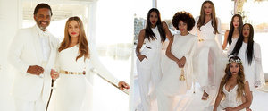 Beyoncé and Solange Support Mum Tina Knowles at Her Extravagant Wedding