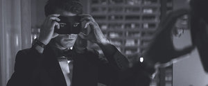 The First Fifty Shades Darker Photo Is Here! Jamie Dornan Is Masked and Sexy