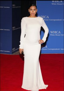 Naya Rivera Wows In White