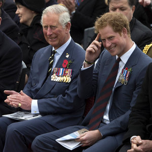Prince Harry at the London Marathon and in Turkey with Prince Charles
