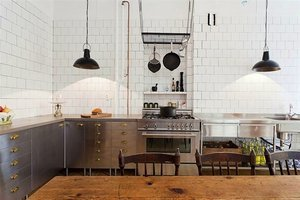 Steal This Look: A Stainless Kitchen Made from Ikea Components