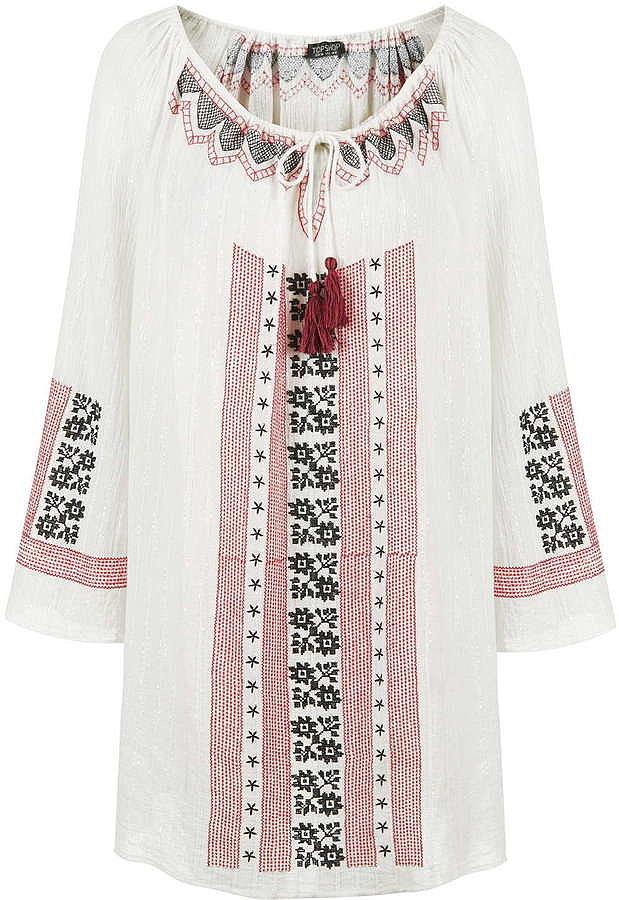 Topshop Embroidered Tassel Dress ($65)