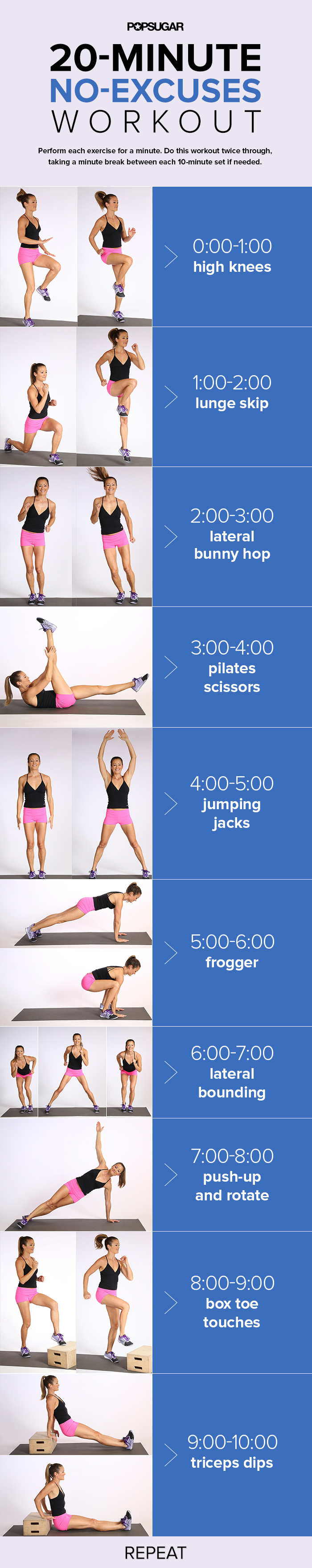 10 Minute No Floor Workout