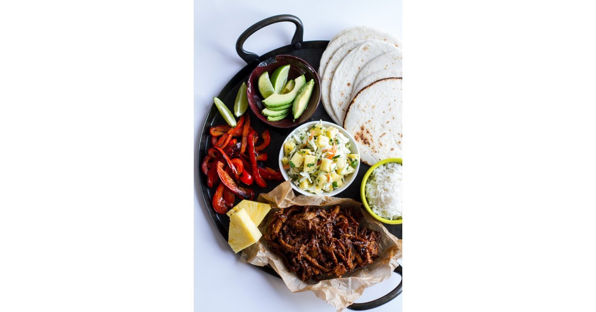 Slow-Cooker Hawaiian Hula Pork Tacos With Pineapple Slaw | 20 ...
