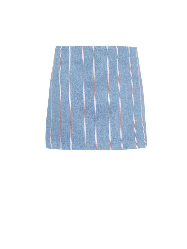 T by Alexander Wang Striped Denim Miniskirt