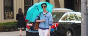 Prepare to Be Confused by Anne Hathaway's Sunbrella