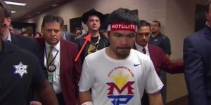 What The Hell Was Jimmy Kimmel Doing Behind Manny Pacquiao On Saturday Night?