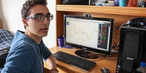 We spent the day with the 18-year-old who's starting a hedge fund in his dorm room