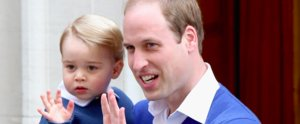 Prince George Celebrates the Birth of His Sister in an All-Blue Outfit