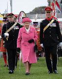 Queen Elizabeth II Wears Pink