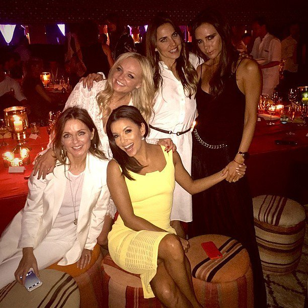 """I'm the new Spice Girl! #LatinaSpice,"" Eva captioned this picture with the four singers.<br /><br /><br /><br />"