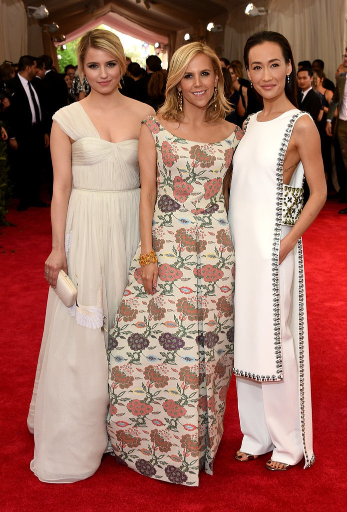 Dianna Agron, Tory Burch, and Maggie Q
