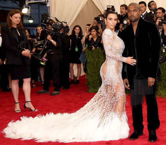 Kim Kardashian Stuns in Beaded, See-Through Roberto Cavalli Gown at Met Gala 2015 — See It Here!