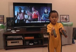 5-Year-Old Bruce Lee Fan Knows His Way Around Some Nunchucks