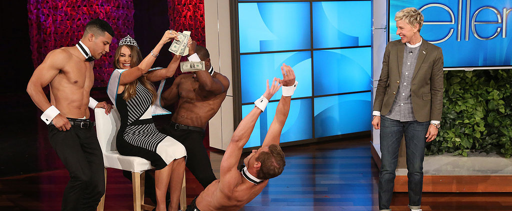 Sofia Vergara Makes It Rain While Being Serenaded by Strippers on Ellen