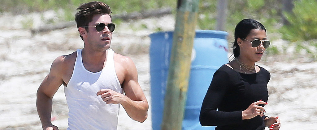 Zac Efron and Sami Miró Show Off Their Hot Bodies at the Beach