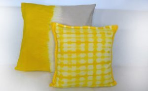 Easy Weekend DIY: 10 Step Shibori Dyed Pillows
