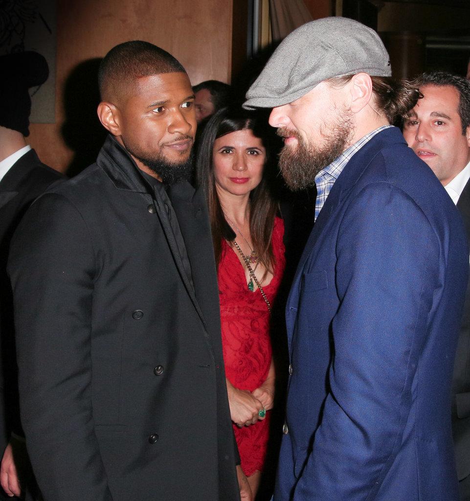 Usher and Leonardo DiCaprio