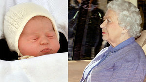 Queen Elizabeth Meets Princess Charlotte