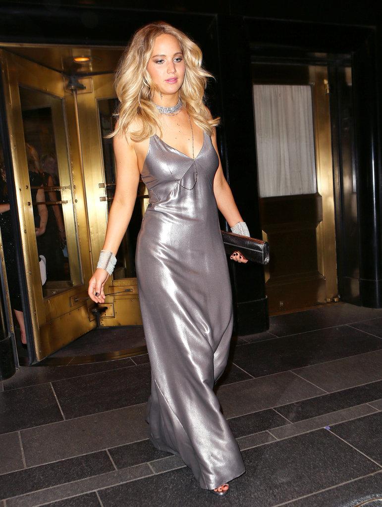 Jennifer Lawrence S Met Gala Slip Dress Popsugar Fashion