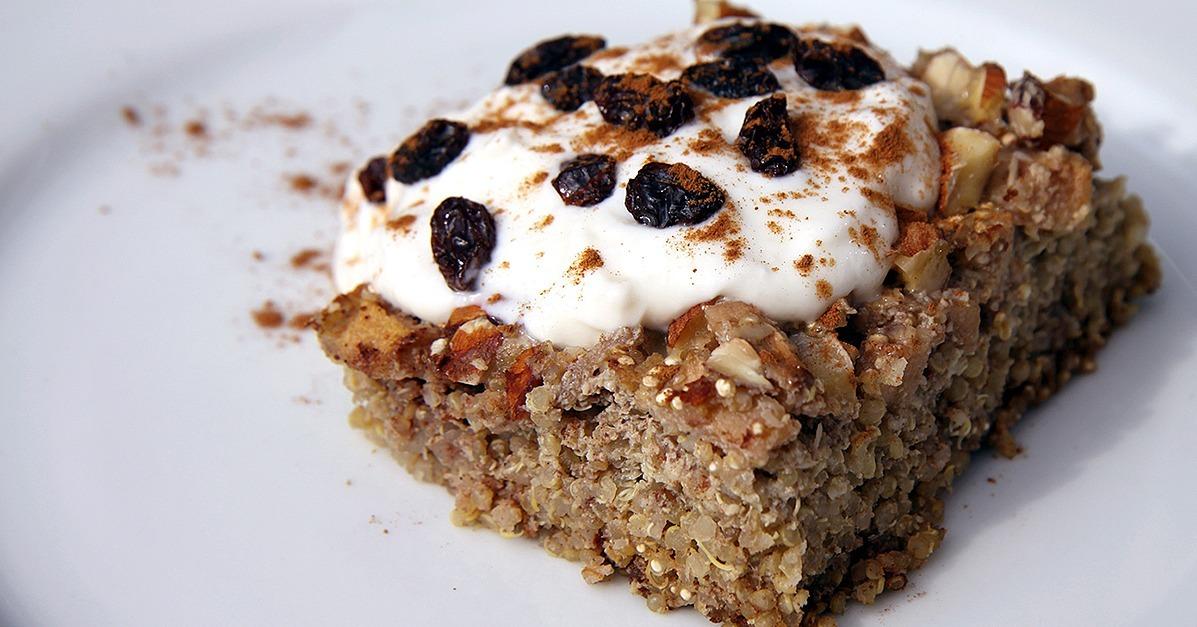 Under 300 Calories! Apple Cinnamon Quinoa Breakfast Bake | FitSugar ...