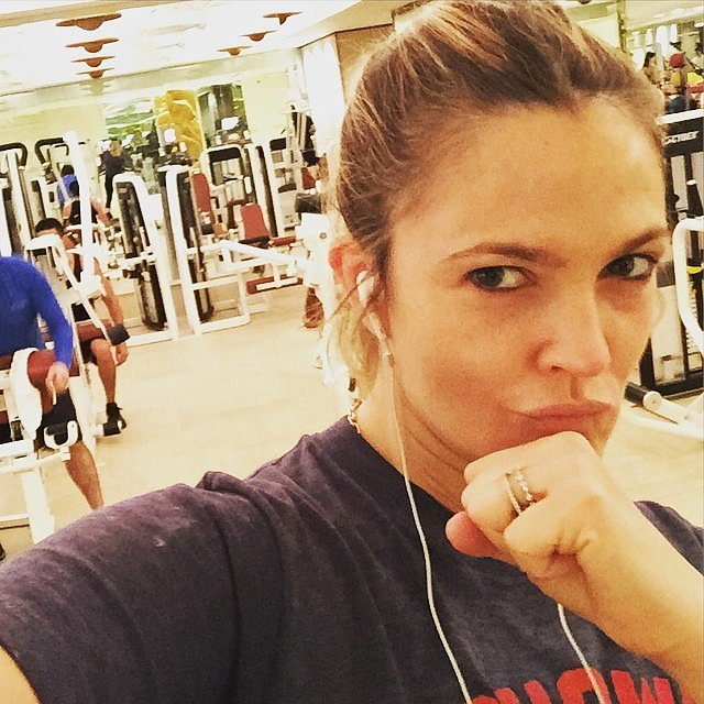 Drew Barrymore hit the gym in Vegas, baby.