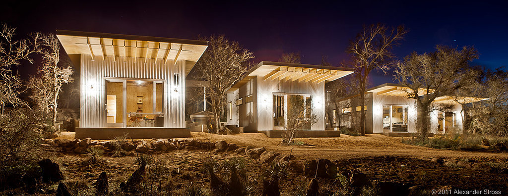 Best mates build tiny row of houses in new take on small living