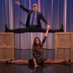 Video of Nina Dobrev Doing the Splits on Conan O'Brien