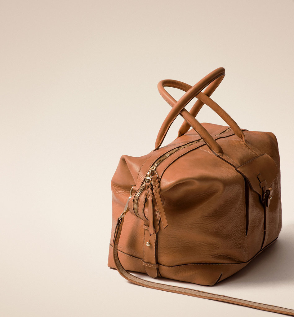 Massimo Dutti Leather Weekender