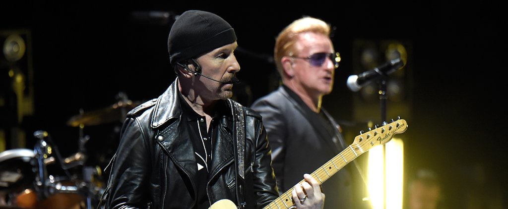 U2's The Edge Suffers an Onstage Mishap