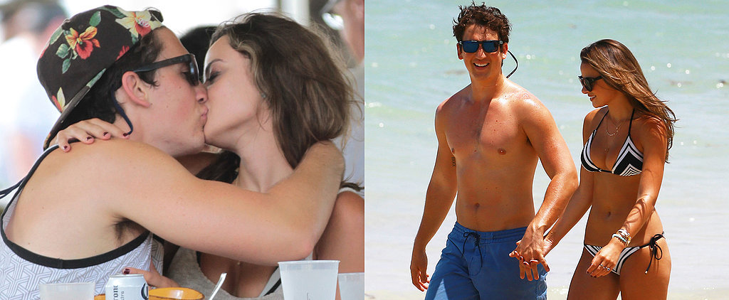 Miles Teller Heats Up Miami With Kisses and a Shirtless Stroll
