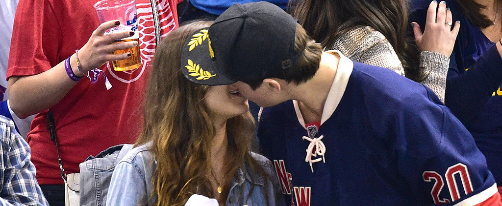 Ansel Elgort's Sexy Kiss Is the Only Hockey Highlight You Need to See