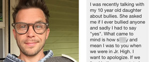 20 Years Later, This Guy Got a Heartfelt Apology From His Former Bully