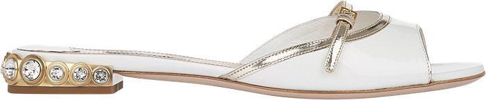 Miu Miu Embellished-Heel Slides