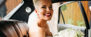 This Real Bride Went For Bold Red Lipstick on Her Big Day