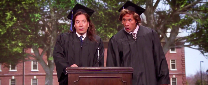 The Rock and Jimmy Fallon Have Great Advice For the Graduates of '89