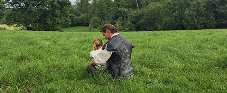 Chris Hemsworth Spends Cute Quality Time With Daughter India on The Huntsman Set