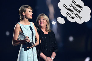 "Taylor Swift's Mom Totally Agrees That It Sounds Like ""Starbucks Lovers"""