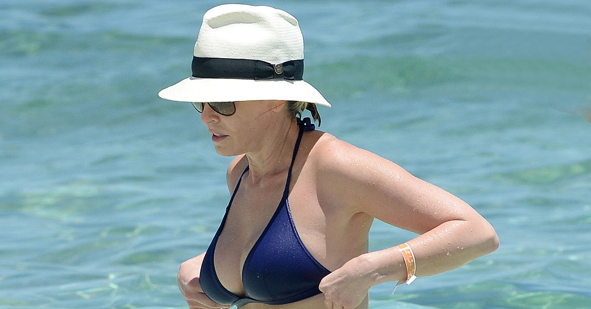 Chelsea handler wearing a bikini in the bahamas popsugar celebrity