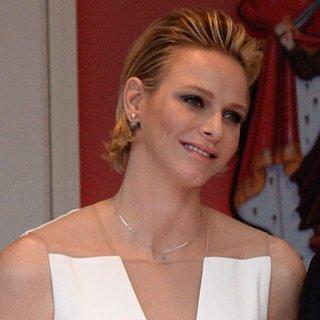 Princess Charlene's Ivory Gown at Monaco Grand Prix