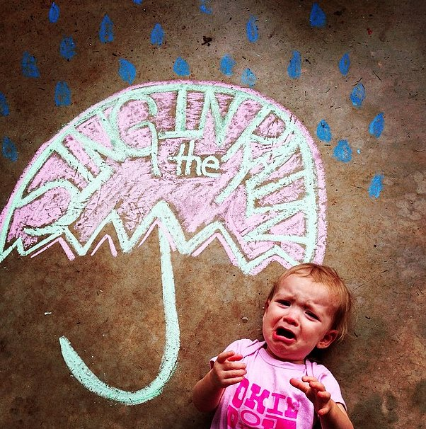 When you make a beautiful #chalkart photo-op, but your baby won't stop crying.