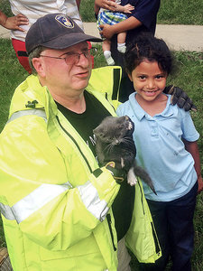 Six-Year-Old Girl Rescues Kitten After Firefighters Are Unable to Help