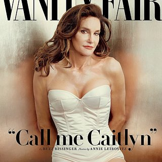 Caitlyn Jenner in White Bodysuit on Vanity Fair