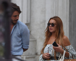 Lindsay Lohan celebrates being off probation with new boyfriend in Venice
