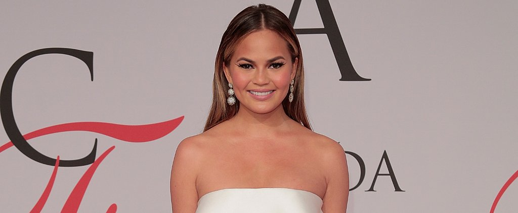 Chrissy Teigen's Dress Ripped Right up the Front at the CFDA Awards